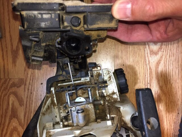 Throttle body removed