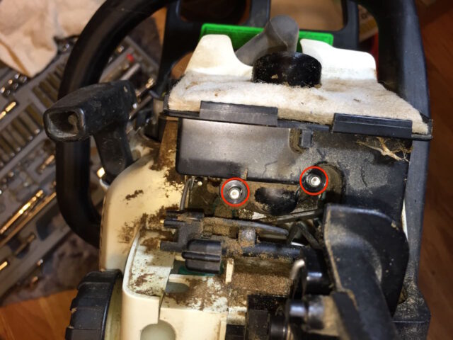 Install the two throttle body nuts