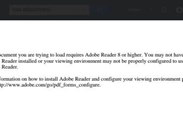 How to Fix the Error The Document you are trying to load requires Adobe Reader 8 or higher