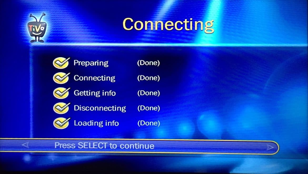 Tivo Central Menu Loading Info Done Share Your Repair