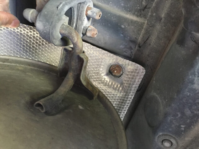 Align holes with bolts to ensure correct installation