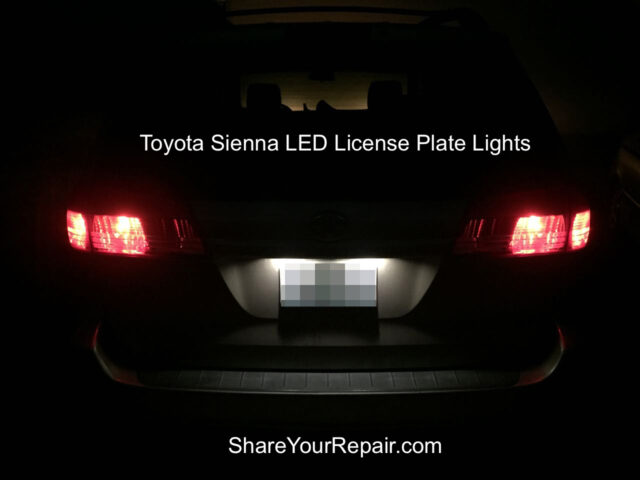 Toyota Sienna LED License Plate Lights