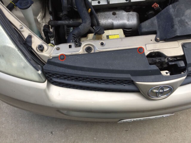 Toyota Sienna Left Grill Clips Locations
