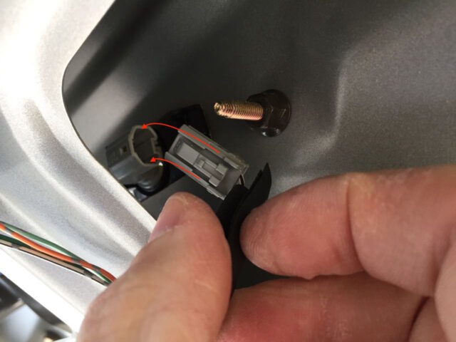 Reinserting the electrical connector into the light fixture
