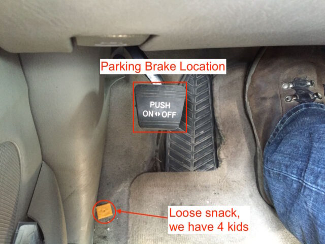 Toyota Sienna Parking Break Location