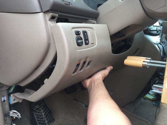 Removing the lower driver's dash panel