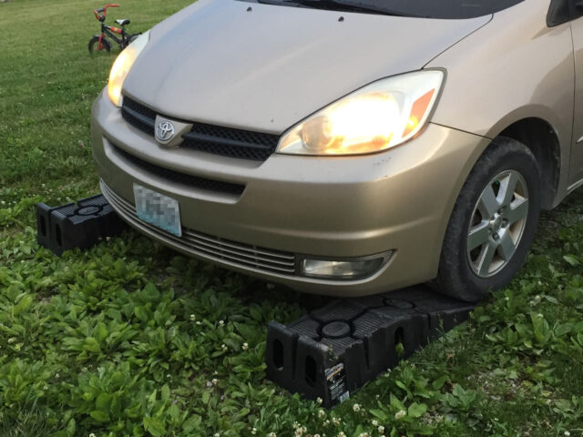 Toyota Sienna With Ramps Lined Up