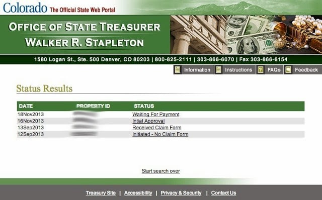 State Of Colorado Unclaimed Property Website
