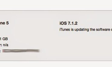 iPhone 5 Being Upgraded from 7.1.2 to 8.0