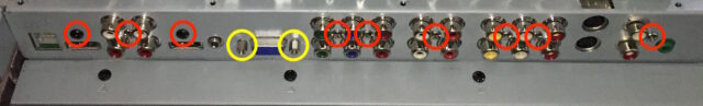 Main Video Board Connector Face Screw Locations