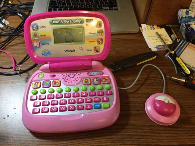 Vtech laptop with a new mouse cable