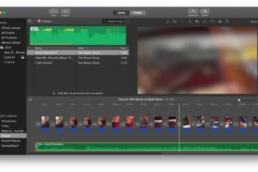 How to Trim Songs to the Length of a Slide Show in iMovie 10