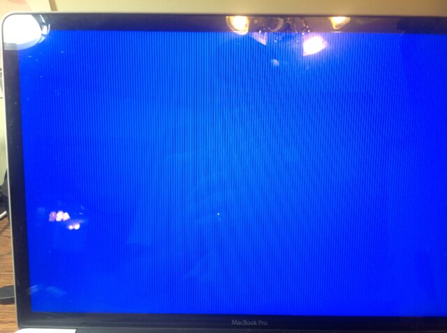 Late-2011 MacBook Pro Graphics Issue striped blue screen